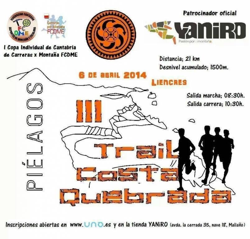Cartel Trail Costa Quebrada