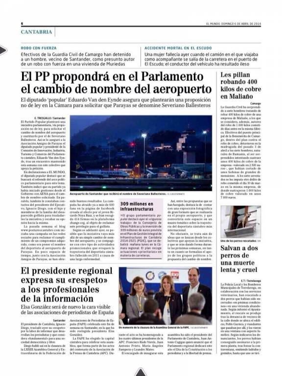 Interior El Mundo Cantabria (06/04/14)