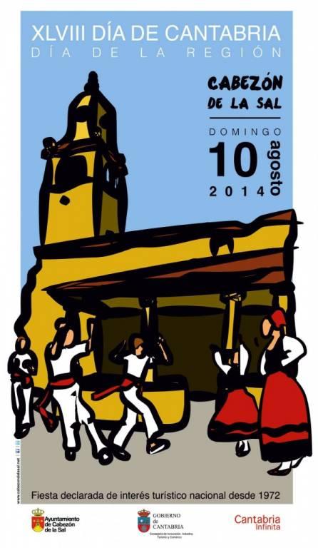 Cartel Día de Cantabria (La Montaña) Cabezón de la Sal