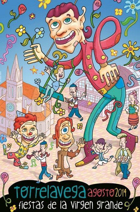 Cartel fiestas Virgen Grande Torrelavega 2014