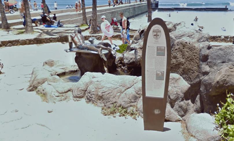 EL RAQUERO DE KUHIO BEACH PARK - HONOLULU (HAWAII) Vía Google Maps II
