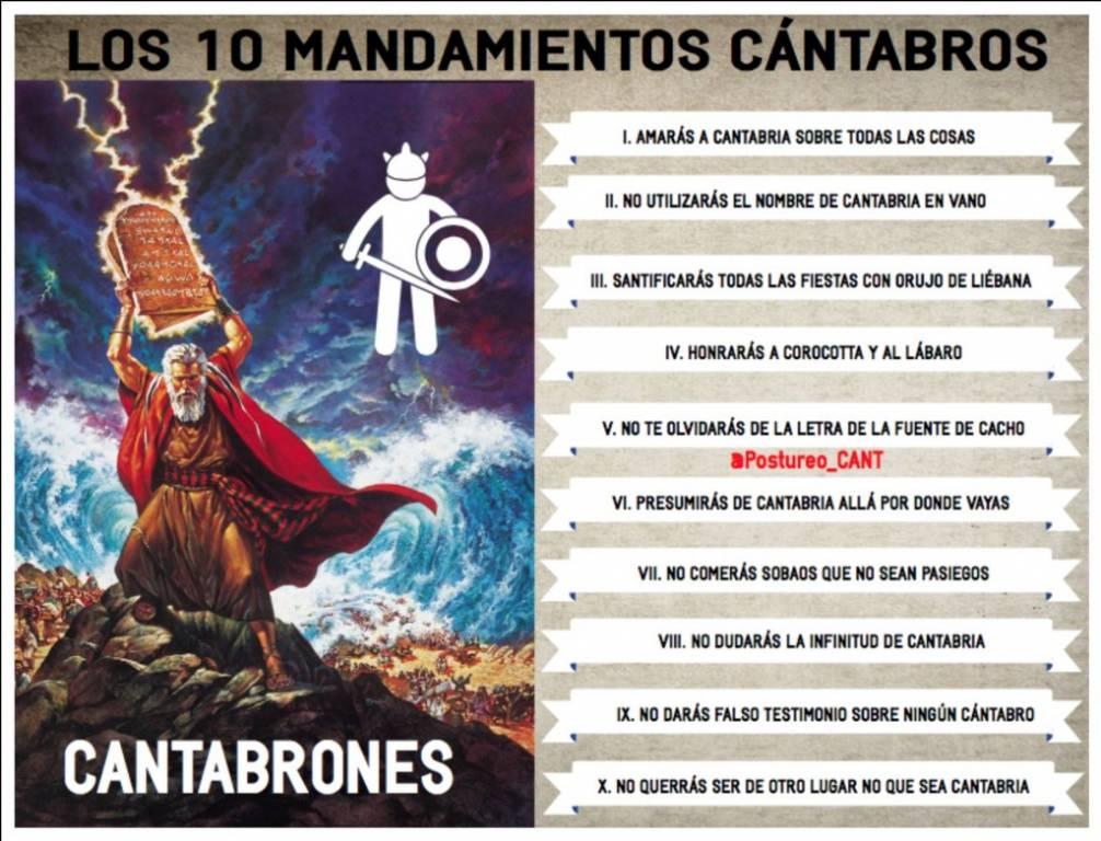 LOS 10 MANDAMIENTOS CÁNTABROS