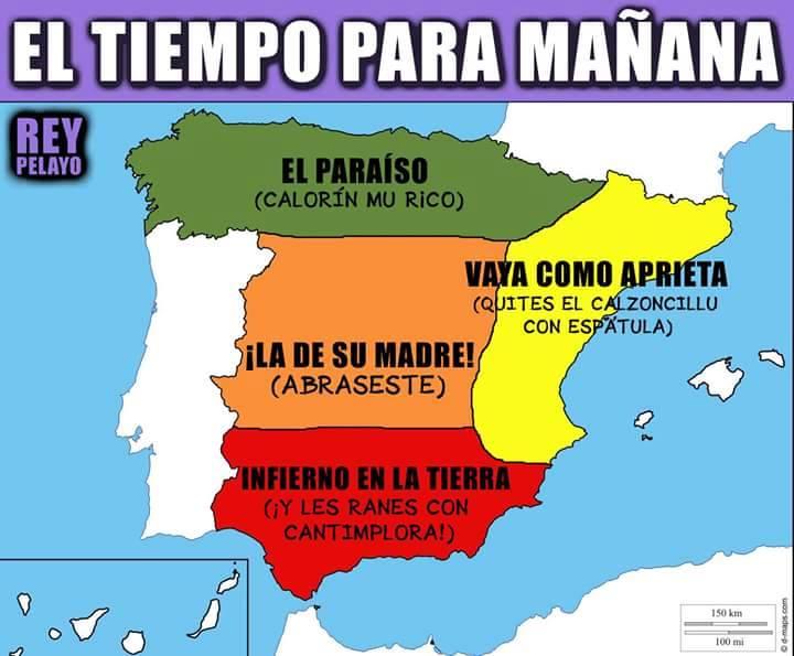EL TIEMPO SEGÚN @MORRILLAZU