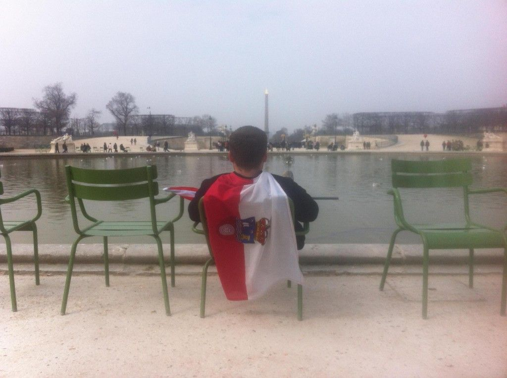 Practicando un poco de Postureo Cántabro en París (Francia)