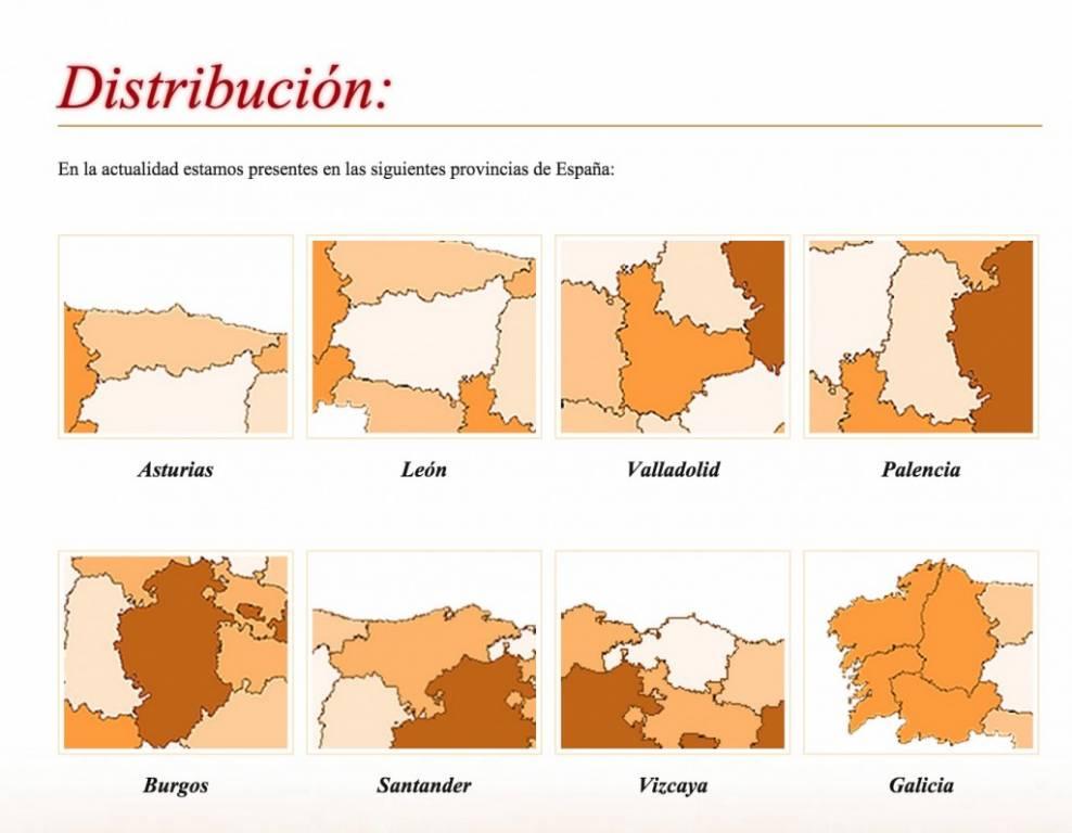 Provincias en las que distribuye la reportería Muriedas