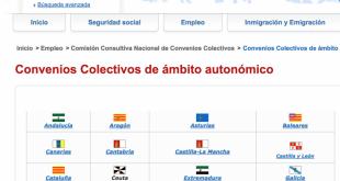 Captura de la Web del Ministerio de Empleo y Seguridad Social
