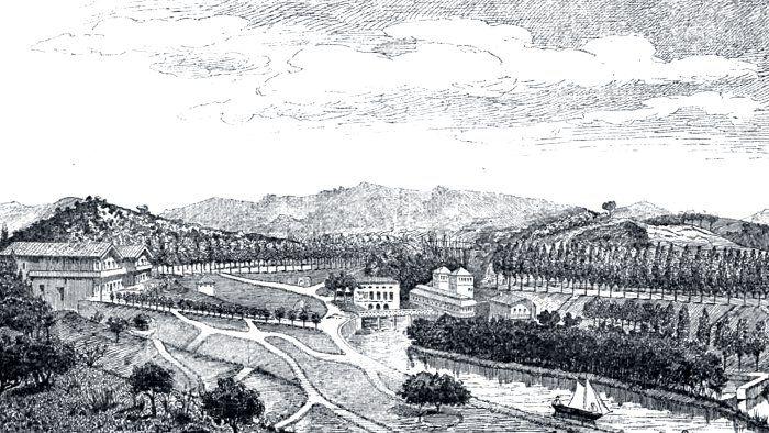 Litografía de 1881 - La Fuente del Francés Vía Transmeranos