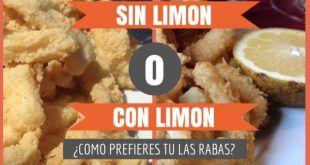 Encuesta sobre el limón en las rabas