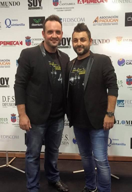 Dúo Diego SóloSaxo y David Argos autores de La Gozadera Cántabra