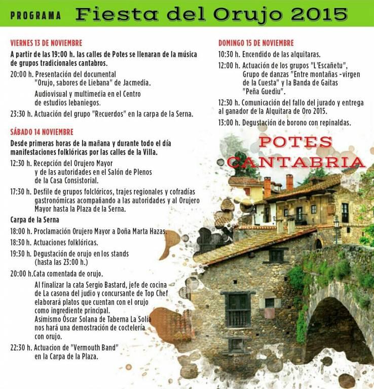 Programa - Fiesta del Orujo 2015