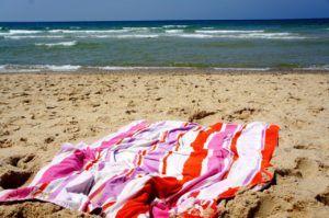 Toalla de playa en Cantabria