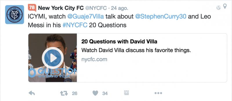 Tweet NYCFC