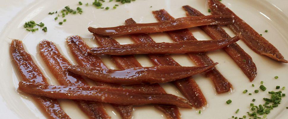Plato de anchoas