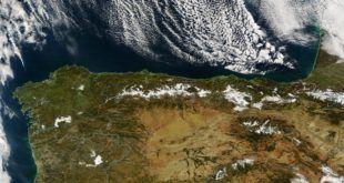Foto satélite de la Cornisa Cantábrica