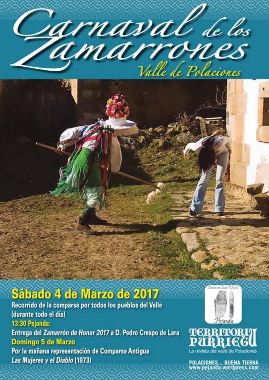 Cartel Carnaval de los Zamarrones (Polaciones)