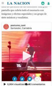Concierto Enrique Iglesias en La Nación (Argentina)