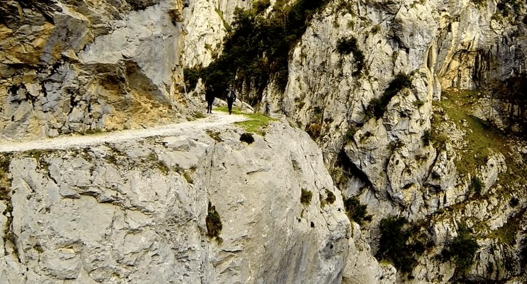 Ruta del Cares a vista de Drone