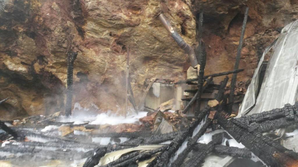 Recinto quemado de las Jirafas