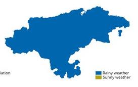 Clima lluvioso en Cantabria