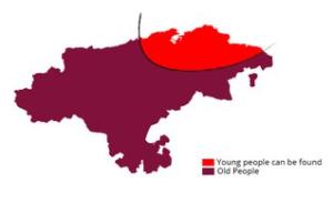 Dónde encontrar jóvenes y Ancianos en Cantabria