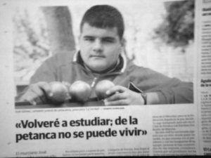 """José Gómez Guerrero """"No se puede vivir de la petanca"""" - 2010"""