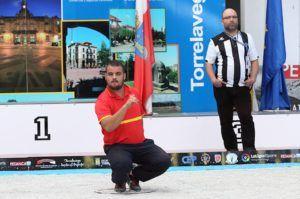 José Gómez Guerrero durante un campeonato europeo celebrado en Torrelavega (Cantabria)