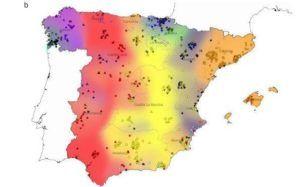 Mapa genético parecidos Granada con Cantabria