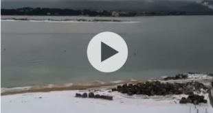Video La Playa de los Peligros de blanco (Santander)