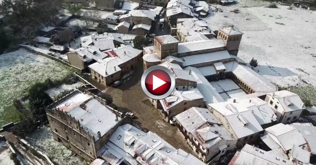 Video Santillana del Mar nevada Cantabria