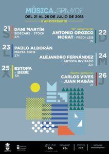 Cartel de los conciertos de la Semana Grande de Santander 2018 FILTRADO