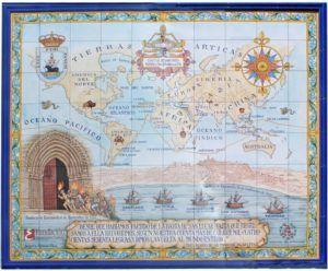 Panel cerámico del recorrido de la primera circunnavegación