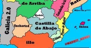 Curioso mapa de España