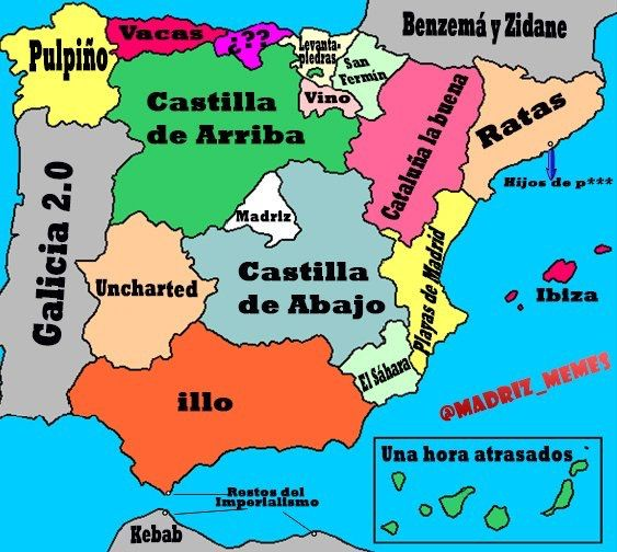Mapa De Santander España.Curioso Mapa De Espana Y Cantabria