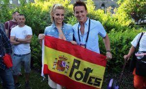 Lucas Cabo junto a Edurne (Eurovisión 2015)