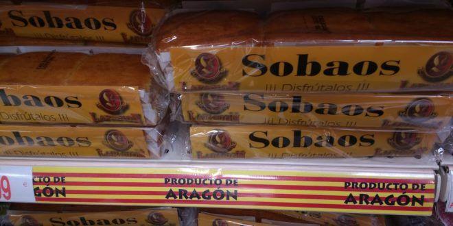 EN ZARAGOZA VENDEN SOBAOS COMO PRODUCTO DE ARAGÓN
