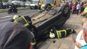 Accidente de Tráfico en Marqués de la Hermida (Santander) - jorgedavila14