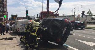 Accidente de Tráfico en Márques de la Hermida (Santander) - jorgedavila14