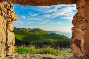 Cantabria vista desde la ventana de la Torre de San Telmo - gobesthphoto