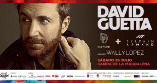 David Guetta en Santander junto a Deepend, Sylvain Armand y Wally López