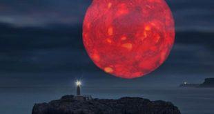 Eclipse luna - Luna de Sangre e Isla de Mouro (Santander)
