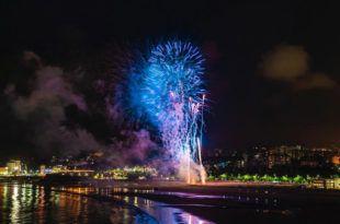 Fuegos artificiales Baños de ola 2018