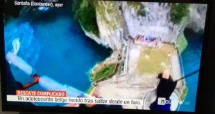 Noticias Cuatro ubica el Faro del Caballo (Santoña) en Santander