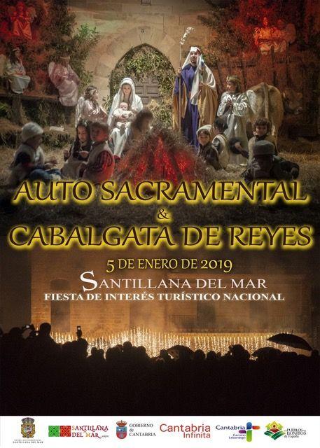 CARTEL AUTO SACRAMENTAL Y CABALGATA DE LOS REYES MAGOS DE SANTILLANA DEL MAR 2019
