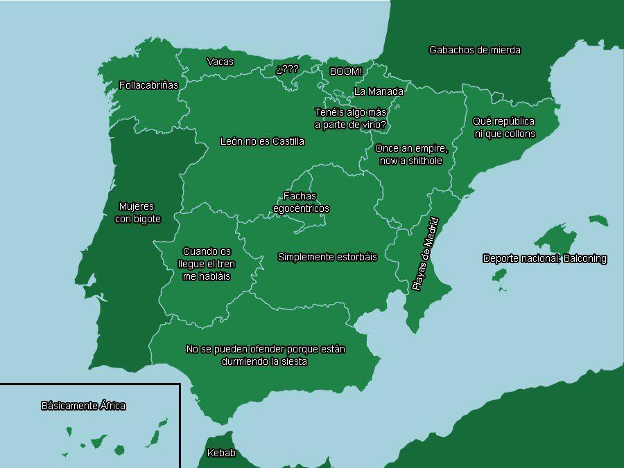 EL MAPA QUE HA LOGRADO OFENDER A TODA ESPAÑA - MADRIZ MEMES