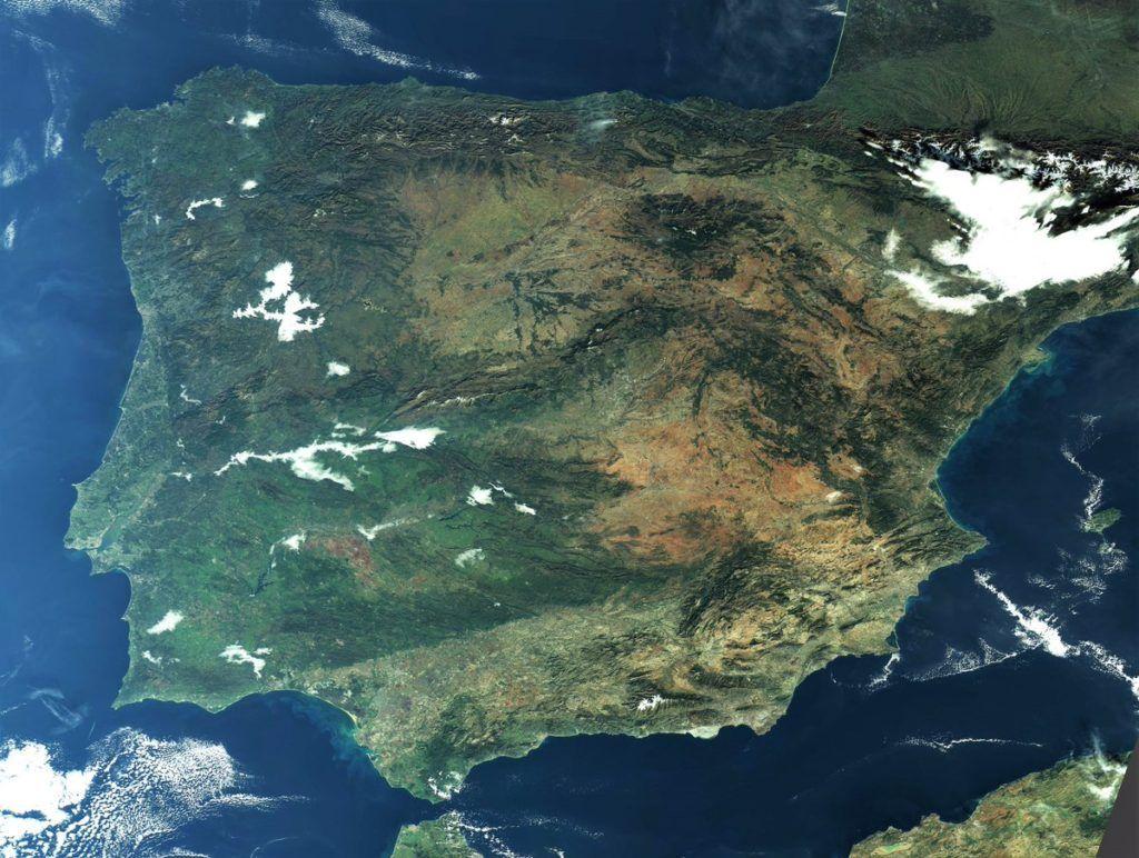 Imágenes desde el Sentinel 3 del incendio de Lunada - Vía CopernicusEU
