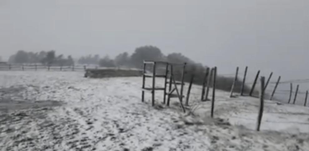 Riesgo de nevadas en Cantabria - Mirador de La Lora (Valderredible)