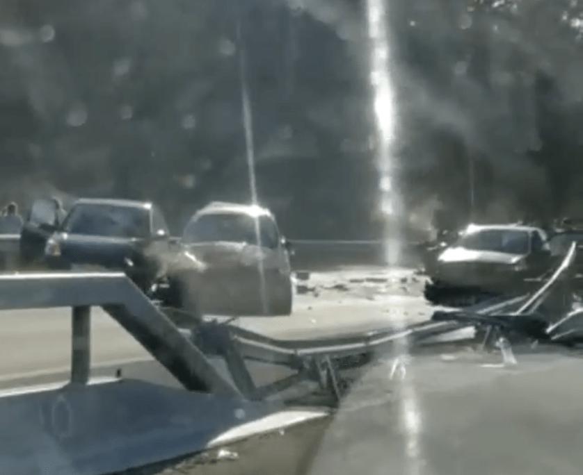 BRUTAL ACCIDENTE EN LA A-67 ENTRE TORRELAVEGA Y SANTANDER