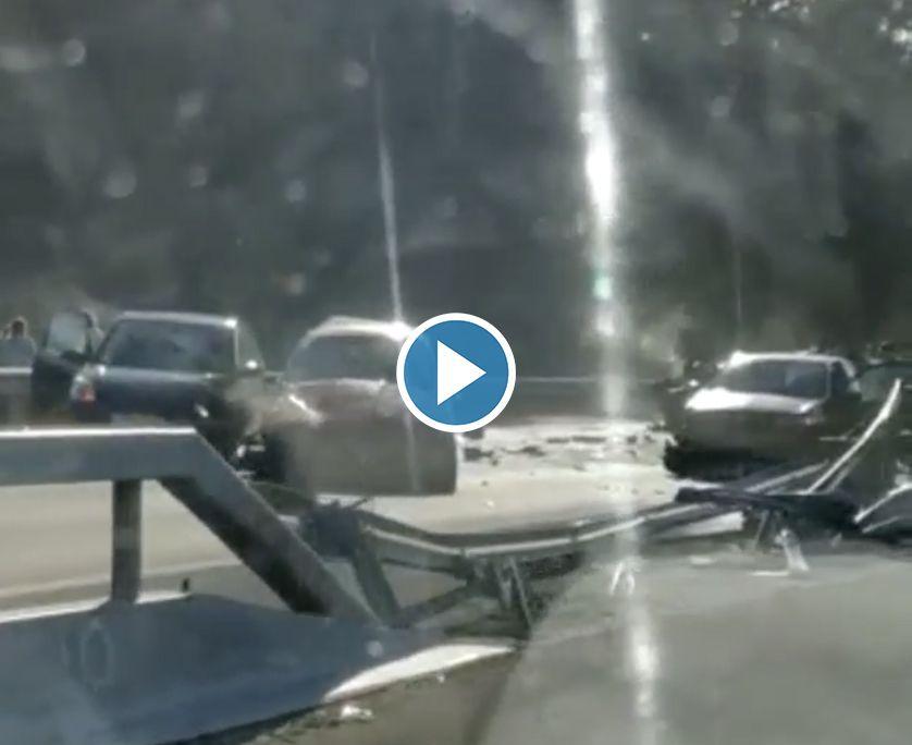 VIDEO BRUTAL ACCIDENTE EN LA A-67 ENTRE TORRELAVEGA Y SANTANDER
