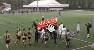 VIDEO INCIDENTES EN UN PARTIDO DE PREFERENTE EN SARÓN (CANTABRIA)
