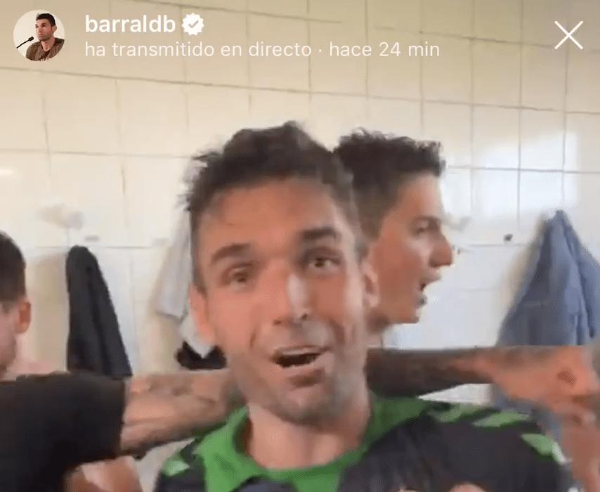 ASÍ SE CELEBRÓ EL ASCENSO DEL RACING EN EL VESTUARIO - DAVID BARRAL